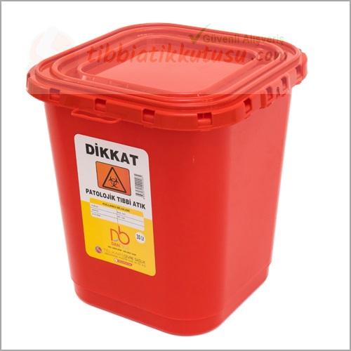 Patolojik Atık Kabı 30 Donbox Kırmızı