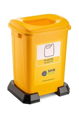 Plastik Atık Kovası 50 Lt